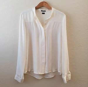 Theory Off White Silk Blouse